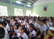 Trường tiểu học Nguyễn Thái Húy tổ chức lễ kết nạp Đội viên lớp 3 vào Đội TNTP Hồ Chí Minh